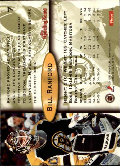 Playerkarte B. Ranford  Fleer 96/97 Bosten