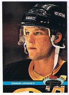 NHL Playerkarte Craig Janney Boston Bruins