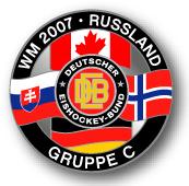 DEB Eishockeypin WM 2007 Russland Gruppe C