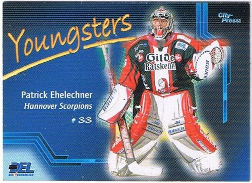 Playerkarte Patrick Ehelechner Youngst.Hannover Scorpions