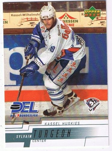 Playerkarte 2001/2002 Sylvain Turgeon Kassel Huskies