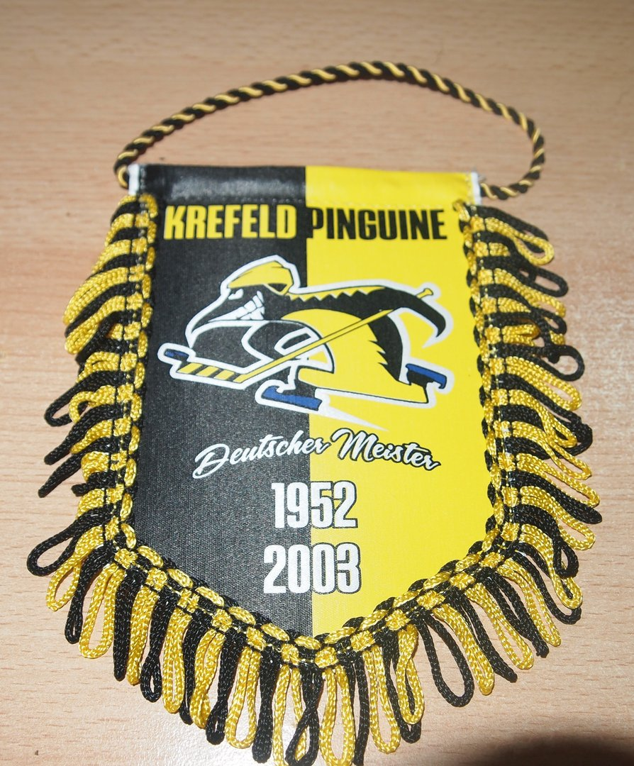 Wimpel Deutscher Meister  Krefeld Pinguine 1952-2003