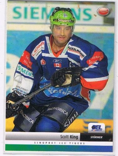 DEL Playerkarte 2007/2008 Scott King Ice Tigers