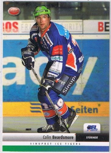 DEL Playerkarte 2007/2008 Colin Beardsmore Ice Tigers