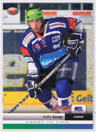DEL Playerkarte 2007/2008 Andre Savage Ice Tigers