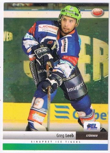 DEL Playerkarte 2007/2008 Greg Leeb Ice Tigers
