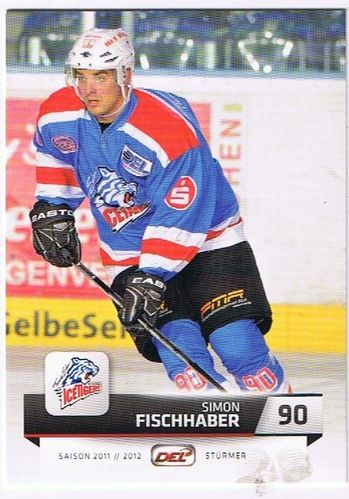 DEL Playerkarte 2011/2012 Simon Fischhaber Ice Tigers
