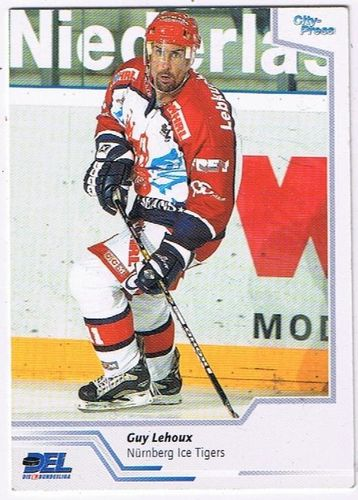 DEL Playerkarte 2002/03 Guy Lehoux Ice Tigers