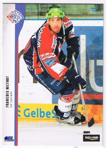 DEL Playerkarte 2005/06 Francois Methot Ice Tigers