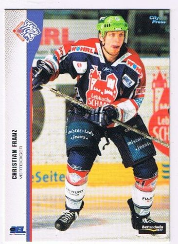 DEL Playerkarte 2005/06 Christian Franz Ice Tigers