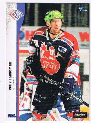 DEL Playerkarte 2005/06 Colin Beardsmore Ice Tigers