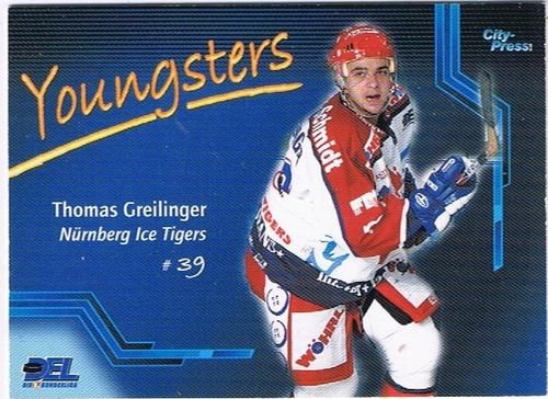 DEL Playerkarte 2002/03 Thomas Greilinger Youngsters Ice Tigers