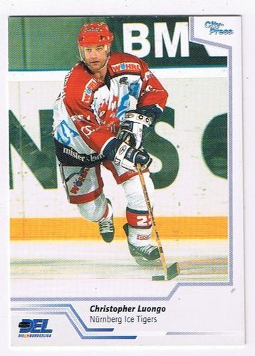 DEL Playerkarte 2002/03 Christopher Luongo Nürnberg Ice Tigers