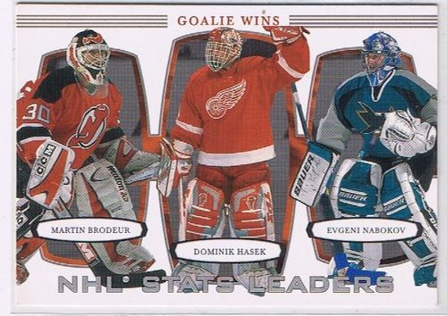 2002/2003 BAP First Edition Golie Wins NHL Stats Leaders