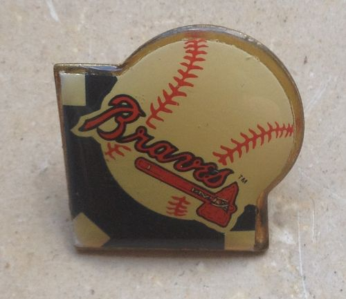 Baseball Pin Base Atlanta Braves