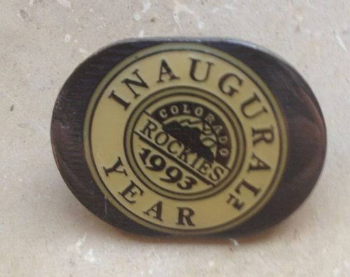 Baseball Pin Inaugural Year 1993 Colorado Rockies